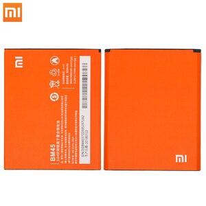 Image 1 - Xiao Mi oryginalna bateria do telefonu komórkowego BM45 do Xiaomi Redmi Note 2 Hongmi Note2 baterie zapasowe prawdziwa pojemność 3020mAh