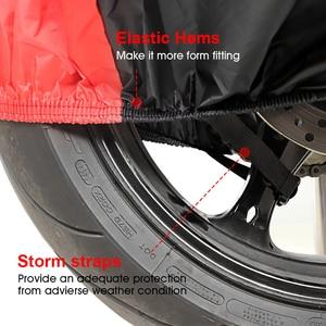 Image 4 - غطاء دراجة نارية كل موسم مقاوم للماء الغبار UV واقية في الهواء الطلق داخلي قفل ثقوب تصميم دراجة نارية المطر يغطي معطف D25