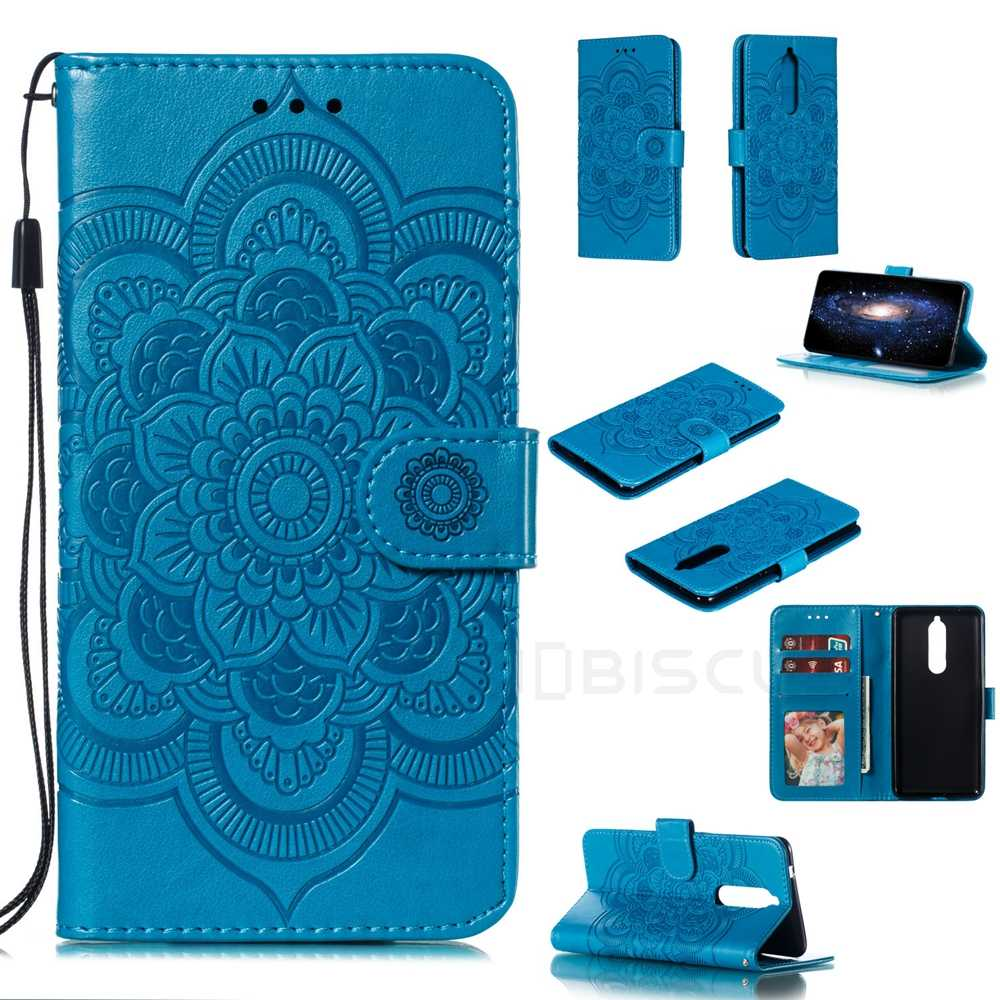 Teste padrão de flor Do Caso Da Aleta Para Nokia 2.1 3.1 5.1 6.1 7.1 8.1 1 Plus Mais 2.2 3.2 4.2 1.3 2.3 5.3 X5 X6 X7 X71 Carteira Tampa Do Telefone de Couro