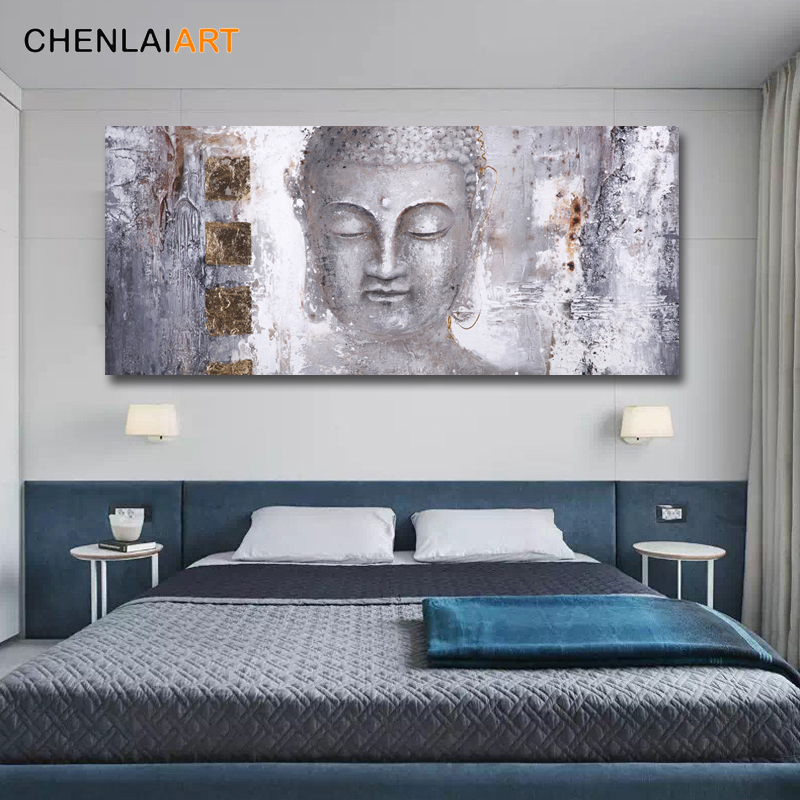 High Quality Abstract Buddha Painting Canvas Wall Art Canvas Large Modern Buddha Painting For Living Room Wall Art Prints Poster