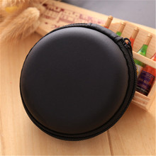 Portable Mini Round Hard Storage Earphone Case for Earphone SD TF Cards Black Blue Pink Purple Red for Xiaomi for Samsung