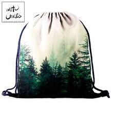 Backpack Women Drawstring Storage-Bag 3d-Printing Gym Who Cares Landscape Portable