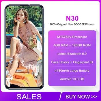 Перейти на Алиэкспресс и купить DOOGEE N30 глобальная версия смартфона 4 Гб 128 ГБ 16 МП Quad задние камеры 4180 мАч Android 10 6,5 дюймHD + перфорированный экран мобильный телефон