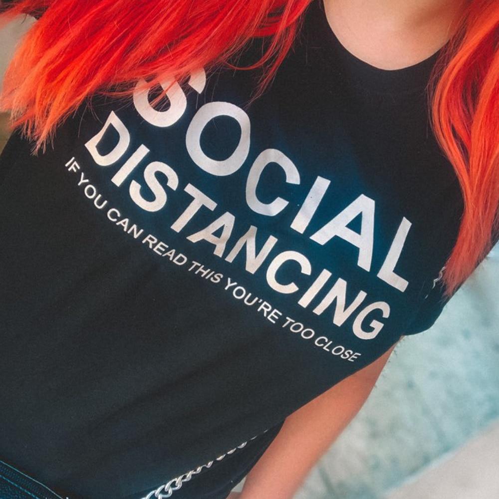 Social Distancing Women T-shirt  5