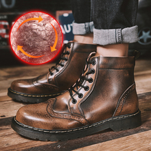 RELKA New Winter Boots Men Lining Plush Warm Fashion Cow Leather Work Snow Boots Plus Size 45 46 47 cowboy boots B15-B fp75r12ke3 fp75r12kt3 fp75r12kt4 b15 new original