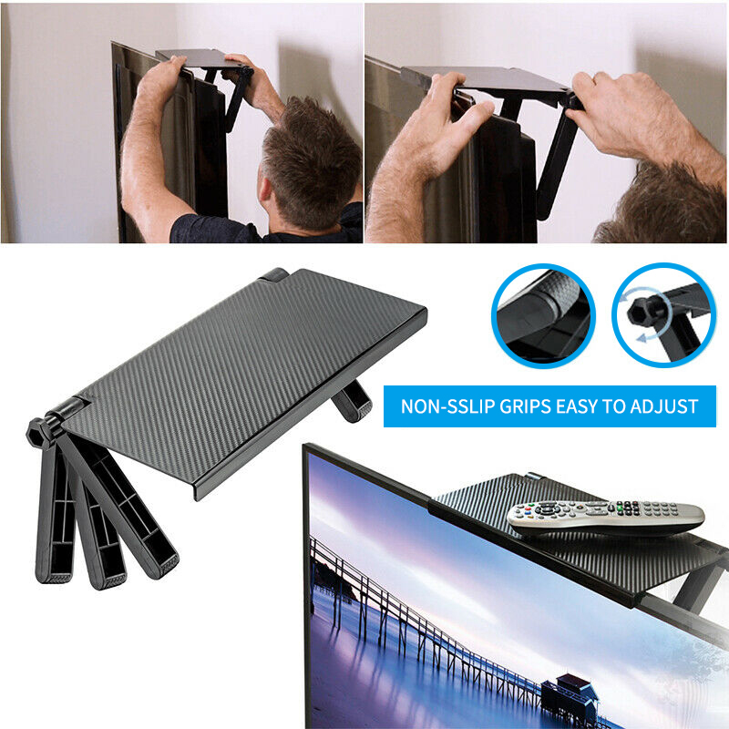 TV Screen Top Shelf Made Of Strong PVC Plastic For Holding Streaming Devices