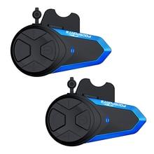 2pcs Fodsports BT-S3 Intercom FM radio waterproof headset motorcycle intercoms 2 riders 1000m Moto Headset for helmet +hard mic