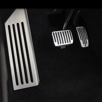 Pour Tesla modèle 3 accessoires en alliage d'aluminium pédale accélérateur gaz carburant frein pédale repos pédale plaquettes tapis couverture voiture style