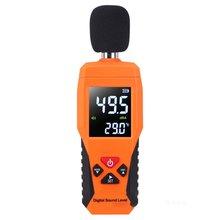 Цифровой уровень звука дБ метров 30 дБ~ 130 дБ децибе шум регистратор детектор диагностический инструмент тестер температуры с подсветкой Горячая