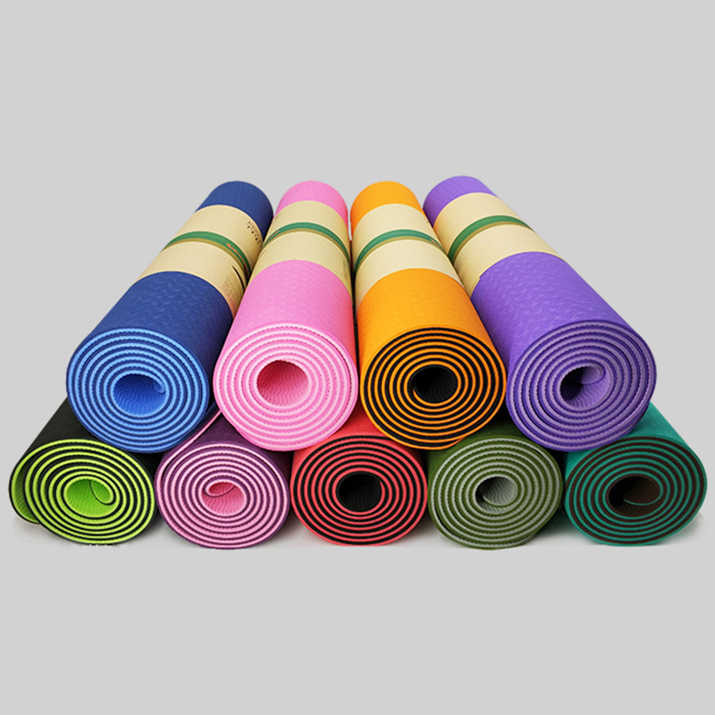 Two Color TPE Widening And Thickening Environmental Fitness Mat Beginner Yoga Mat