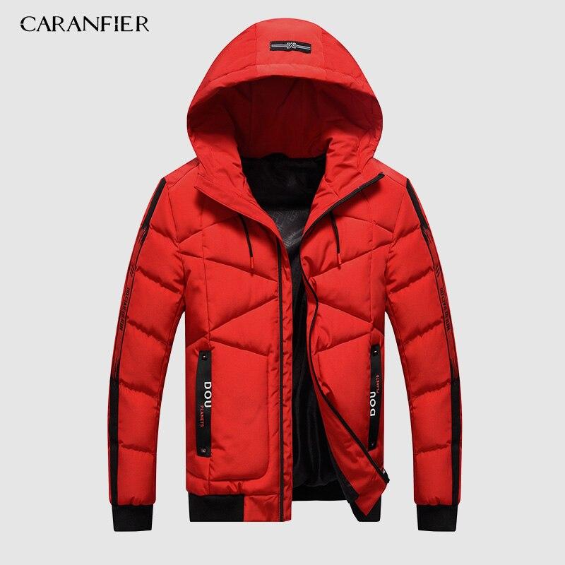 CARANFIER Parka Mens Fashion Men Winter Jacket Coat Hooded Zipper Keep Warm Men Coat Casual Slim Fit Male Overcoat Drop Shipping