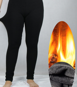 Image 1 - Shikoroleva נשים של חותלות לעבות קטיפה חם צמר חורף עבה אלסטי למתוח Jeggings שחור בתוספת גודל 7XL 6XL 5XL 4XL XS