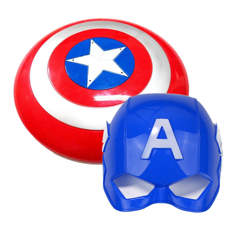 The Shield And Mask For Captain America Keep A Hero Safe Kids Toys  Avengers Alliance Series Toy New Year Christmas Toys
