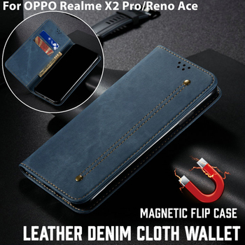Funda de cuero de lujo para OPPO Realme X2 Pro, Funda de...