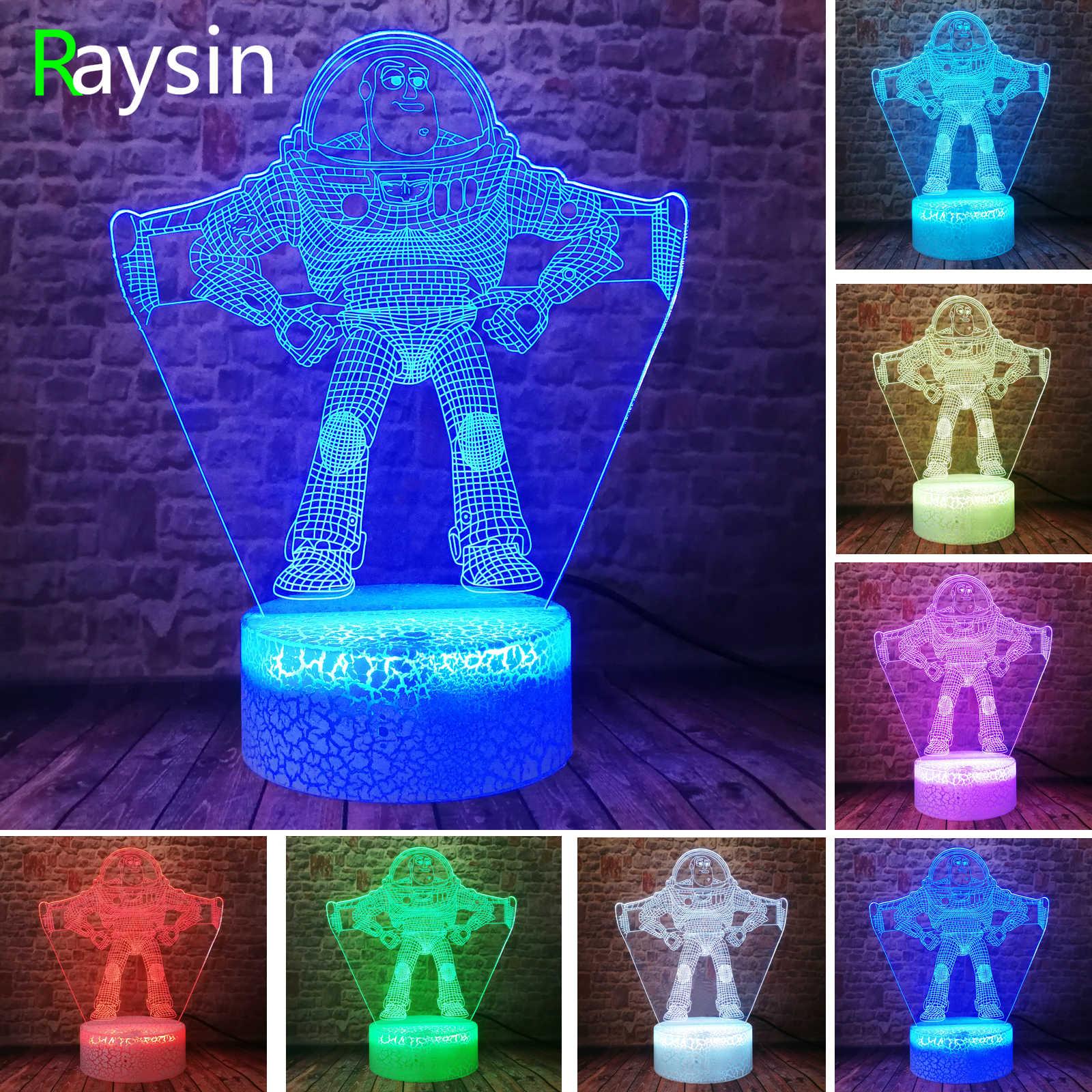 """История игрушек 3D Pixar Ultimate Buzz Lightyear светильник """"Космонавт"""" светодиодный 7 цветов астронавт фигурка ночник украшение для спальной комнаты мальчиков детские подарки"""