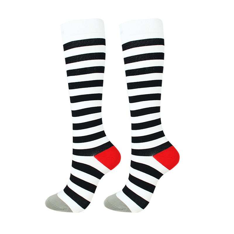 H6e80f7535d5e476cb0370520a0b1e196L - New Autumn Women Men Knee-High Socks Long Printed Casual Style Hosiery Footwear Accessories Fashion Compression Socks