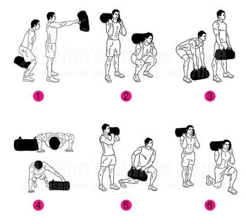 5 10 15 20 25 30KG Unfilled Bag Fitness Body Building Gym Sports Crossfit Sand