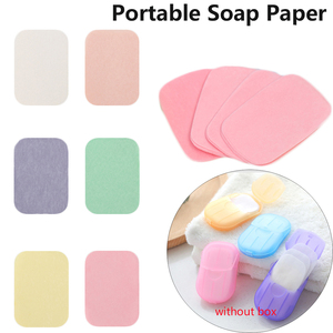 50PCS Hand Washing Soap Flakes Portable Convenient Paper Soap Bactericidal Cleaning Products Health Care Tools