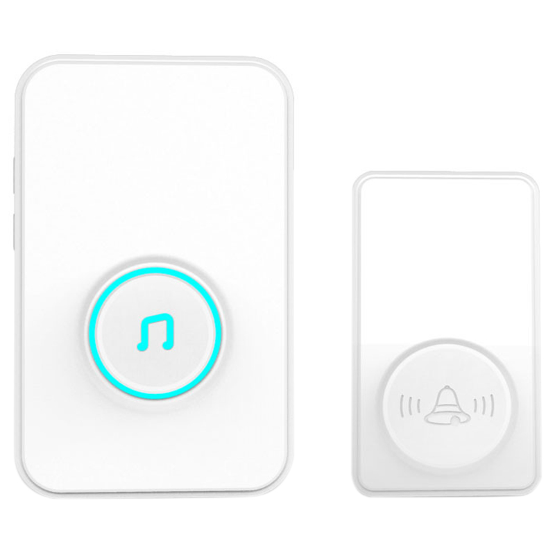 AMS-One To One Wireless Self-Generating Doorbell, Home, Long Distance, No Battery, Self-Powered Eu Plug