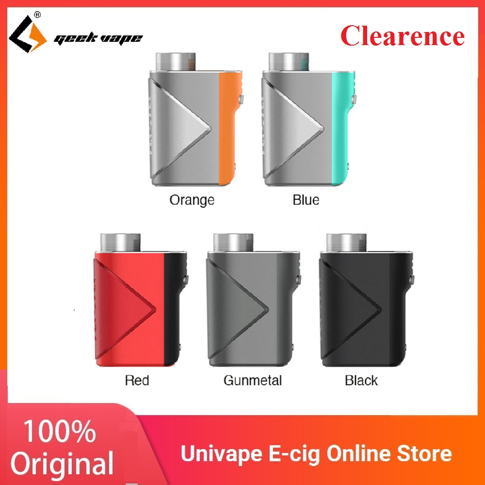 Original Geekvape Lucid Mod Vape 80W Box Mod No 18650 Battery Wi Advanced AS Chip Supports E-Cigarette Vape Kit Vs Aegis Boost