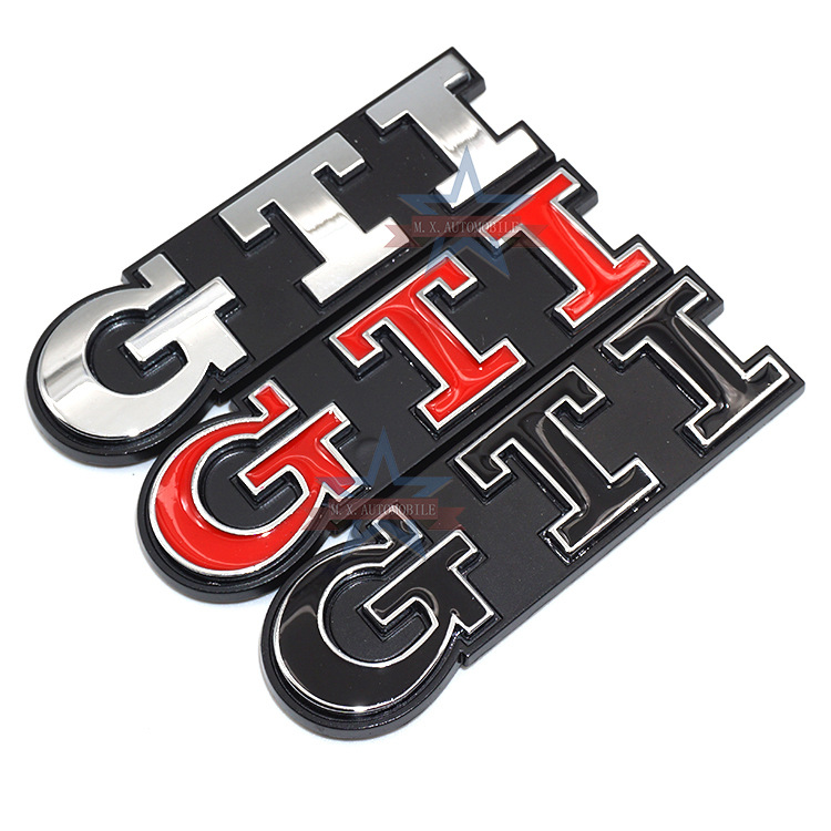 Volkswagen GTI Auto Logos for VW Polo GOLF 6-7 GTI Car Logo Cool Modified Standard
