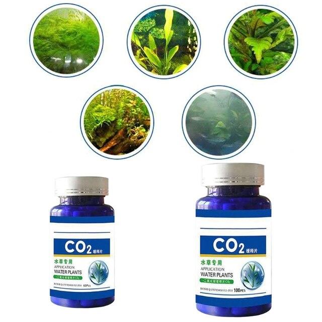 60/100Pcs Aquarium CO2 Tablet Carbon Dioxide Diffuser for Water Plant Grass Fish Tank Accessories 5