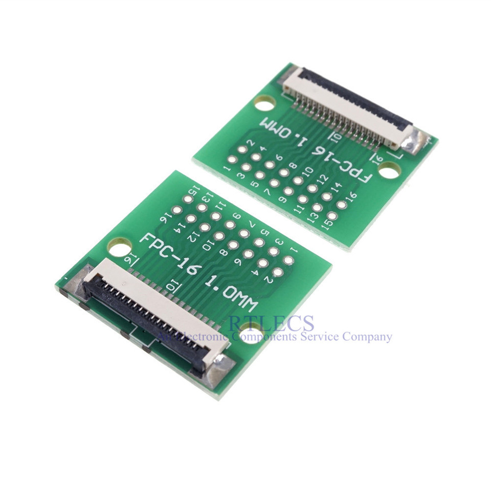 FPC 10P-1 to DIP Adapter PCB Board SMD Converter 20pcs FPC 10P 0.5