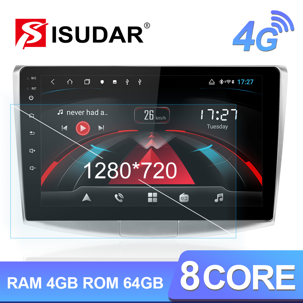 Isudar H53 4G HD 1280*720 Android 1 Din Auto Radio For VW/Volkswagen/Passat B7 CC B6 Video Player Car Multimedia DSP GPS DVR image