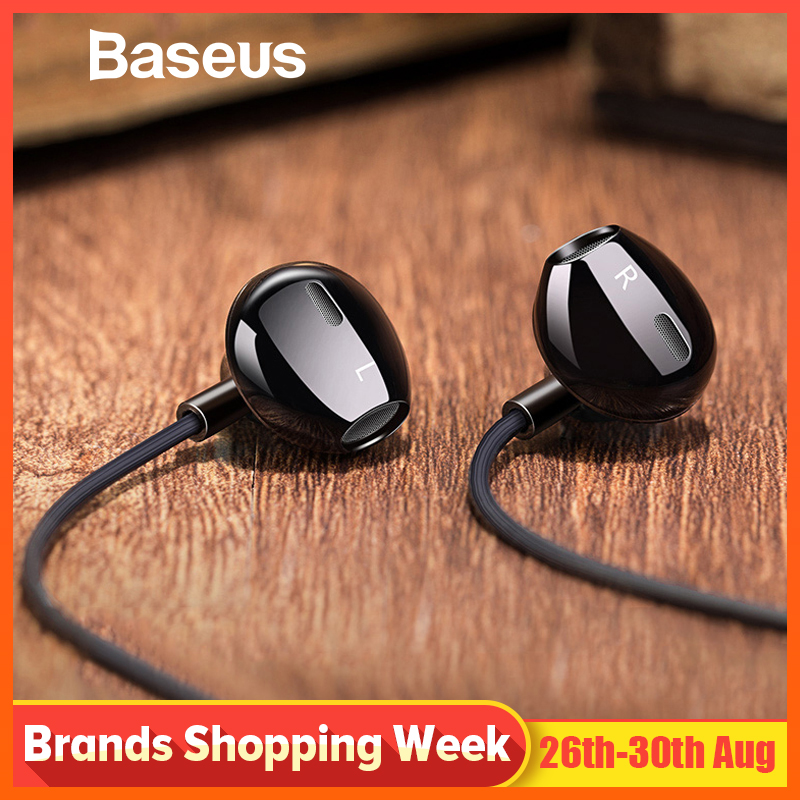 Baseus 6D Stereo In-ear Earphone <font><b>Headphones</b></font> Wired Control Bass Sound Earbuds for iPhone Xiaomi Huawei 3.5mm Type c Earphones