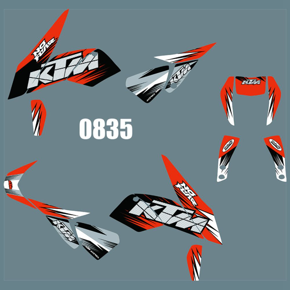 For KTM DUKE 690 2012-2019 New Full Graphics Decals Stickers Custom Number Name Glossy Bright Stickers Waterproof