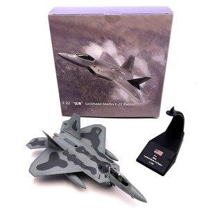 Image 5 - 1/100 نموذج طائرة مقياس لعب الولايات المتحدة الأمريكية F 22 F22 رابتور مقاتلة ديكاست طائرة معدنية نموذج لعبة للأطفال هدية جمع شحن مجاني