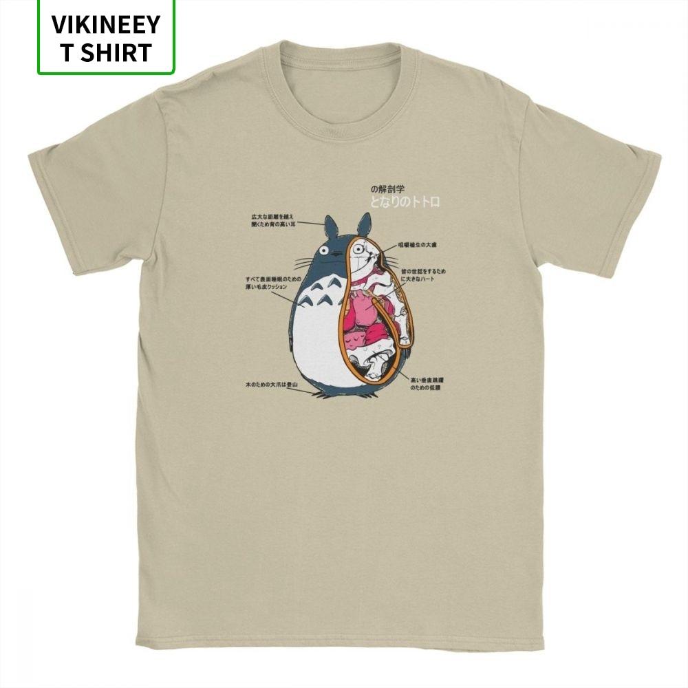 Men's Anatomy Of A Neighbor T Shirt Hayao Miyazaki Manga Japan Ghibli Totoro Cotton Fabric Short Sleeve Tee Shirt 3XL T-Shirts