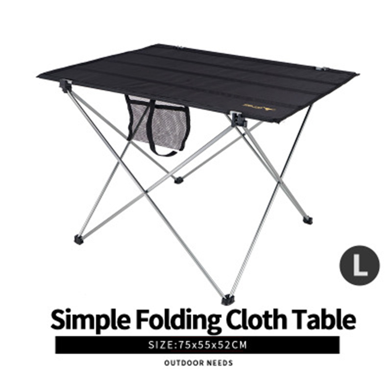Outdoor Camping Portable Lightweight Folding Table Airport Large Aluminium Alloy Picnic Barbecue Desk Occasional Table