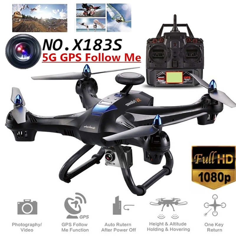 X183S Drone GPS 5G With 720P 1080P Camera Wifi Professional HD FPV GPS RC Quadrocopter Folding Portable One Key Return Follow Me