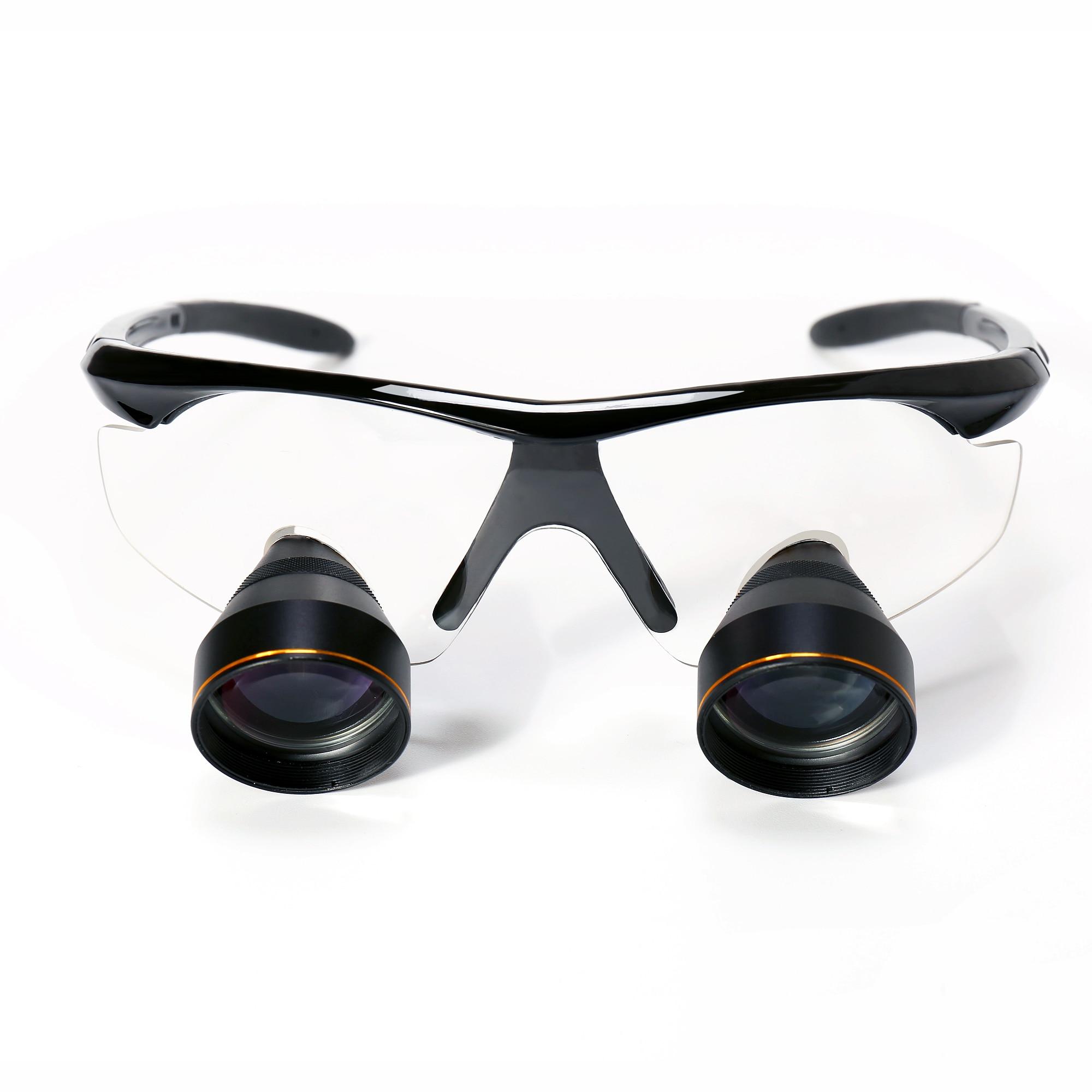Большой FOV 2.5X бинокулярный глаз Стекло стоматологическая лупа хирургии медицинское увеличительное стекло стоматолога лупа 30 50 см большое р...