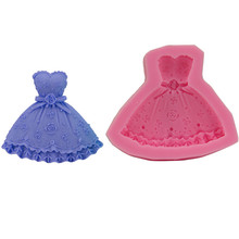 Skirt Mold Bra-Dress Baking Chocolate Silicone Hand-Soap Princess