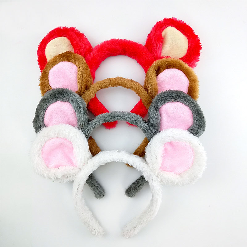 Rat Mouse Animal Ear Headband Role Playing Hair Ornament Unisex Cosplay Headwear  Xmas  Party Halloween Christmas