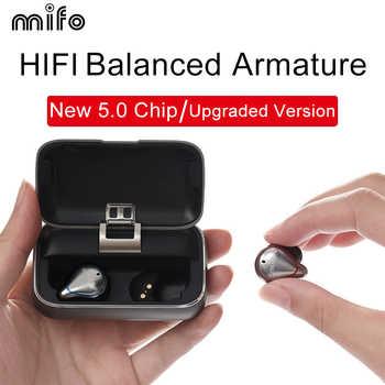 Mifo O5 Bluetooth 5,0 Wahre Drahtlose Ohrhörer Ausgewogene Bluetooth Kopfhörer Sport Stereo Kopfhörer mit Lade Box 2020 Verbesserte