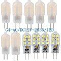 10 шт. светодиодный лампы 3W 5W G4 светильник лампочка переменного тока 220V DC 12V Светодиодный светильник SMD2835 Точечный светильник люстра светильн...