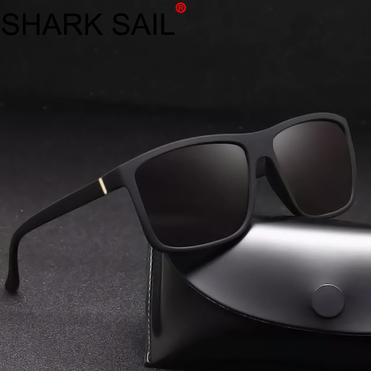SHARK SAIL Mens Rectangle Sunglasses Fashion Design Square Driving Sun Glasses Mirror Shades Eyewear Oculos De Sol UV400 Gafas