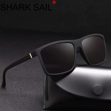 SHARK SAIL Mens Rectangle Sunglasses Fashion Design Square Driving Sun