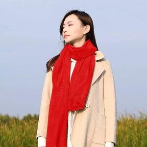 Image 4 - Youpin PMA Grafene Riscaldamento Sciarpa 3 Gear Regolabile Tessuto In Fibra di Acqua Lavabile Interfaccia Caldo Molle Unisex regalo Rosso