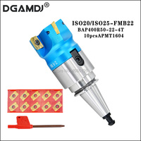1 set of ISO20 ISO25 FMB22 45L tool holder + BAP400R50 / 63 22 4T face milling cutter head + 10slice of APMT1604 carbide blade