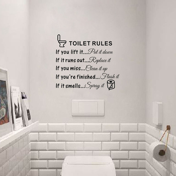 Toilet Rules Dialogue Stickers