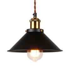 Lámpara colgante Industrial, iluminación colgante Edison, lámpara colgante Vintage, lámpara de Metal, lámpara colgante de hierro, bronce