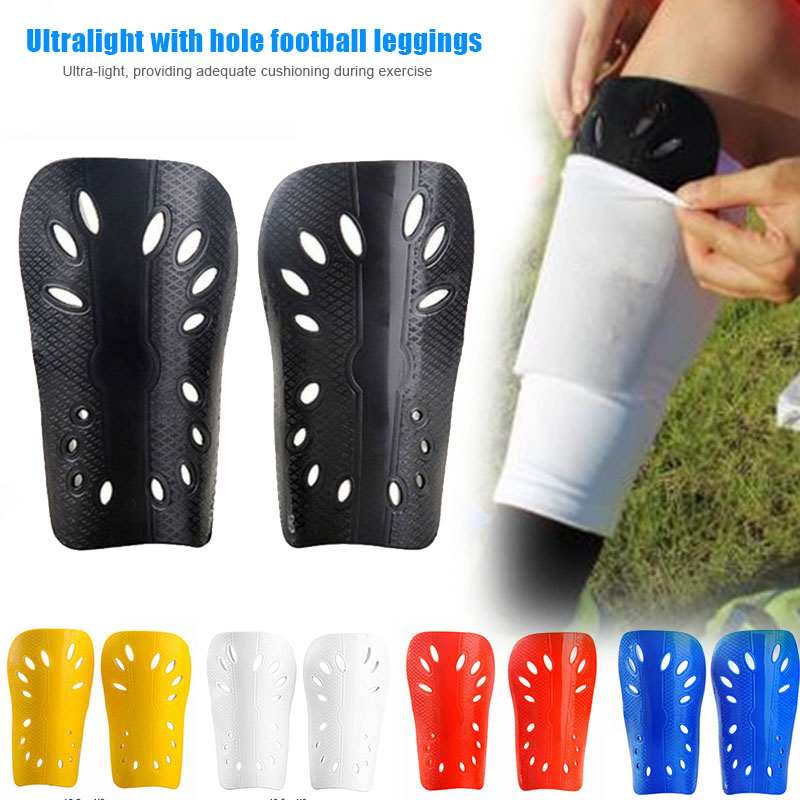 HOT 2pcs Men Lightweight With Hole Football Shield Basketball Shin Guards Protective Gear 19ING