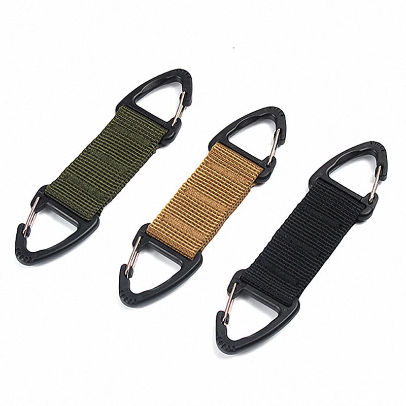 Hiking Carabiner Webbing Belt Clip Climbing Buckle Keychain Hook Tactical Bag Backpack Clip Clasp EDC Outdoor Camping Equiment