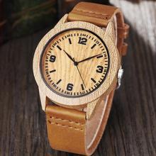 Fashion Wood Watches Women Men Quartz Wristwatches Casual Wo