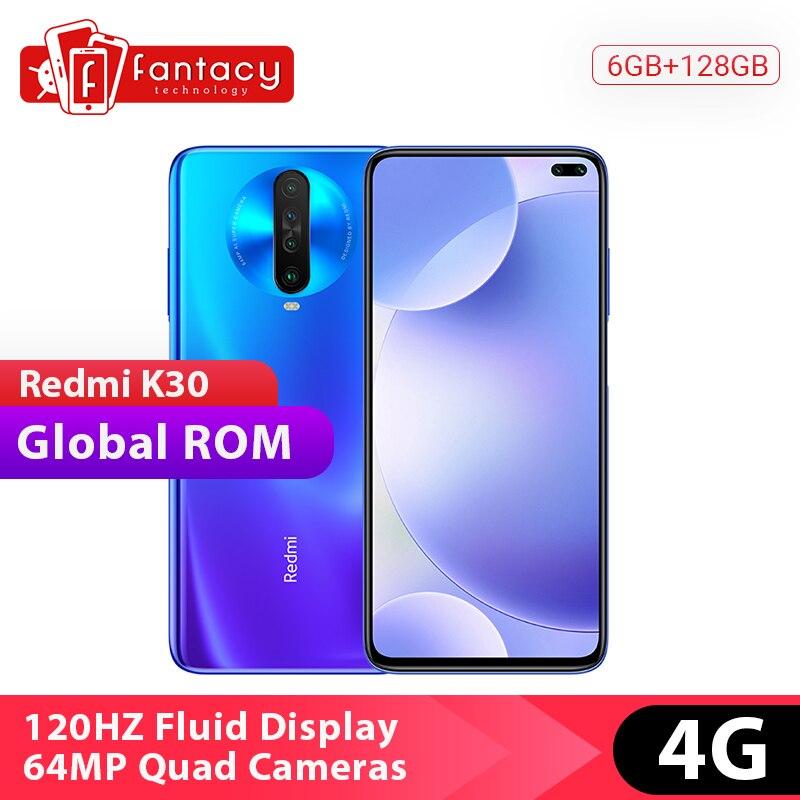 Global Rom Xiaomi Redmi K30 4G Snapdragon 730G 6GB 128GB Mobile Phone Octa Core 120HZ Fluid Display 6.67 Full Screen 27W Phone