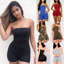 New Fashion Women Sexy Clubwear Summer Sleeveless Playsuit Bodycon Slim Fit Party Jumpsuit Club wear Bodysuits Trousers Shorts 2019 hot fashion womens summer casual sleeveless strappy tank dress loose slim party club midi bodycon new